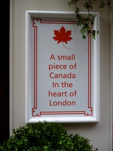 A Small Piece of Canada in the Heart of London