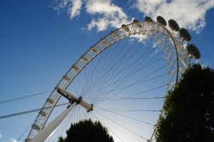 london eye from ground