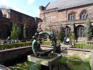 Chester Cathedral Courtyard