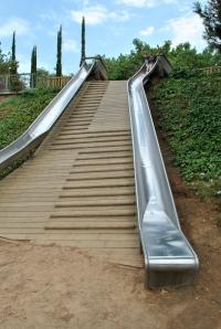 Slide in Montjuïc Hill