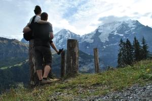 Hiking in Lauterbrunnen Switzerland